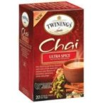 TWINING TEA TEA CHAI ULTRA SPICE, 20 BG (Pack of 3) (Spice Tea Savory)