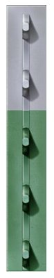 7 Steel Post - Chicago Heights Steel Green With Gray Top Studded T-post, 1.25
