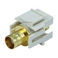 Keystone Jack - Modular BNC (Ivory) [Electronics]