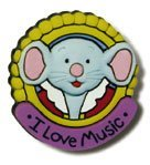 Music for Little Mozarts Mozart Mouse Pin, Christine H. Barden and Gayle Kowalchyk, 0739022229