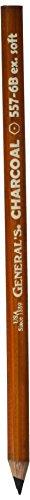Charcoal Pencils 2/Pkg-6B - Pencil Charcoal