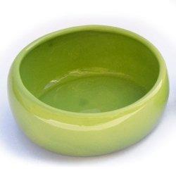 LIVING WORLD Ergonomischer Nagernapf groß grün, Keramiknapf, Futterschüssel