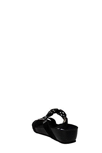 Grunland CB0392-70 Chancla Mujer Gamuza Negro negro