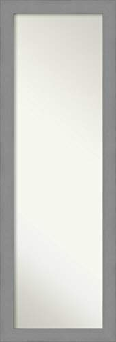 Amanti Art Full Length Mirror | Brushed Nickel Mirror Full Length | -