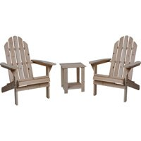 Northern Tool and Equipment Wooden Adirondack Chairs with Table - 3-Pc. Combo