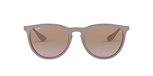 Ray-Ban RB4171 Erika Round Sunglasses, Dark Rubber Sand/Violet Brown Gradient, 54 mm (Ray Bans Cheap)