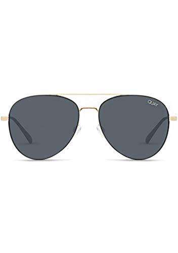 Quay Australia Single Sunglasses in Black Smoke Lens Gold Lens, Womens, One ()