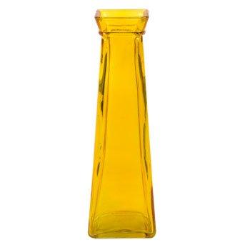 Yellow Gold Short Glass Bud Vase, 7.75