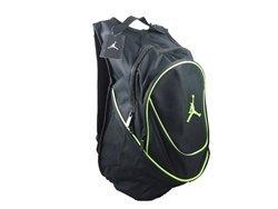 NIKE Jordan Air Jumpman Backpack Book Bag-Black/Green