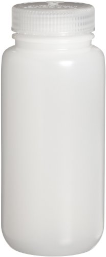 Nalgene 2189-0016 Wide-Mouth Lab Sample Bottle, HDPE, Economy, 500mL (Case of 48)
