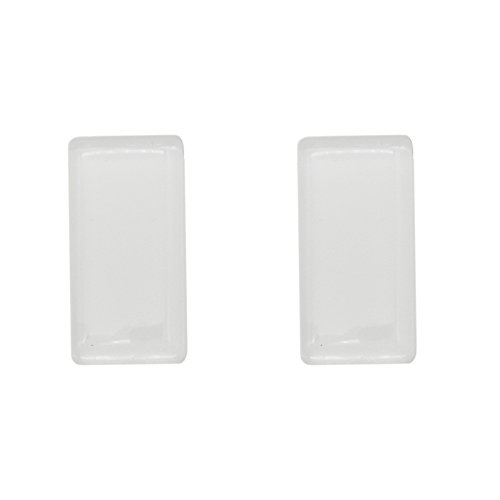 Glass Tile Pendant - 16pcs 24x47mm Rectangle Flat Back Clear Glass Tile Dome Cabochons for Photo Pendant Jewelry Making