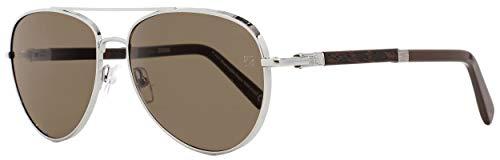 (Sunglasses Ermenegildo Zegna EZ 66 EZ 0066 14E shiny light ruthenium / brown)