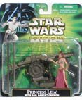 Princess Leia in Slave Girl Costume with Sail Barge Cannon Star Wars Power of the Force 3 3/4 Inch Action (Star Wars Slave Leia Costume)