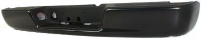 Evan-Fischer EVA17472032869 Step Bumper Rear Steel Painted - black With 4 brackets holes for license light and plate (Bumper For Dodge Ram 1500 2004 compare prices)