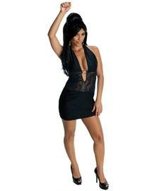Snooki Black Dress Costumes (Rubie's Costume NLP Snooki-Black Dress Costume, Large by Rubie's)
