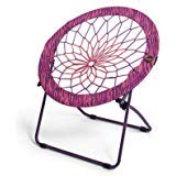 (Bunjo Bungee Chair Pink/Purple Zebra Print)