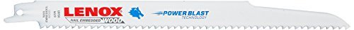 (LENOX Tools Wood Cutting Reciprocating Saw Blade with Power Blast Technology, Bi-Metal, 9-inch, 6 TPI,)