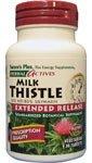 Capsules Plus Vegetarian Milk - Natures Plus Herbal Actives Milk Thistle - 500mg, 80% Silymarin, 30 Vegan Tablets - Liver Detox & Regenerator Support Supplement, Anti inflammatory - Vegetarian, Gluten Free - 30 Servings