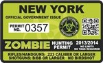 Yellow Dog York NY Zombie Hunting Permit -
