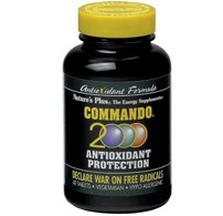 (Natures Plus Commando 2000-60 Vegetarian Tablets - Antioxidant Protection Supplement with Vitamins A, C, E, Zinc & Herbs, Supports Free Radical Defense - Gluten Free - 30 Servings)