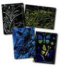 Scratch-Art 1296505 Pre-Inked Scratch and Sparkle Trading Card44; Pack of 52 by Scratch-Art