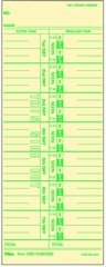 TOPS 1256 Time Card, Weekly, Manila, 10-800292, Green Ink Front, 500 CD per BX