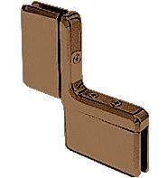 Oil Rubbed Bronze Prima 04 Series Inline Panel Mount Hinge by C.R. Laurence