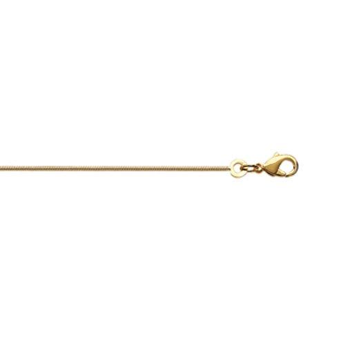 ISADY - Serpi Gold 1 - Chaîne Maille Serpent - Plaqué Or 750/000 (18 carats) - Longueur 45 cm - Largeur 1