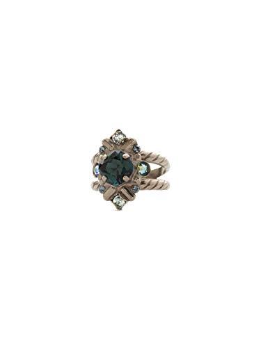 - Sorrelli Shielded Crystal Ring, Blue-Green, 1
