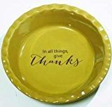 Abbey Press Give Thanks Pie Plate - Wall Décor Inspirational Religious Gifts 55731-ABBEY
