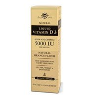 Solgar - Liquid Vitamin D3 (Cholecalciferol) 5000 IU – Natural Orange Flavor (2 Pack)