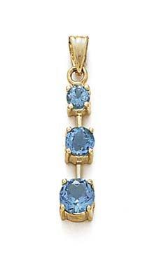 Empilable topaze bleue 14 Carats Pendantes-JewelryWeb