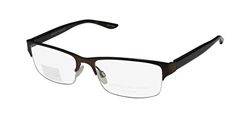 Barton Perreira Clifton Mens/Womens Designer Half-rim Titanium Must Have Eyeglasses/Spectacles (53-17-140, Brown/Tortoise)