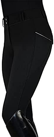 KAGAYD Sports Women's Breathable Horse Riding Tights Knee Patch Grip Equestrian Pants Schooling Riding Bre