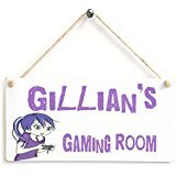 Gaming Room Girl's Gamer Bedroom Personalised Sign– - Wooden Sign Gift