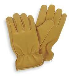CONDOR 4TJV4 Drivers Glove, Deerskin, M, Gold, PR