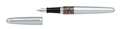 Pilot Python Design Body Fountain Pen Medium Nib, Black Ink