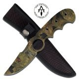 Master Cutlery TA-94CA Tom Anderson Overall Fixed Blade Knife, (Throwing Knives With Finger Hole)