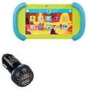 PBS Kids Playtime Pad Car Charger, BoxWave [QC3.0 Dual Car Charger] Dual Charger for Fast Multi-Device Charging for PBS Kids Playtime Pad - Jet Black