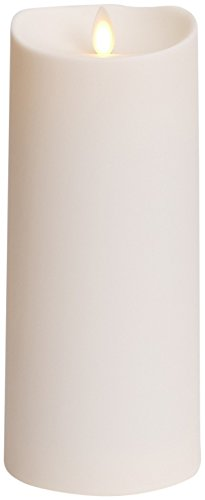 Luminara Outdoor Flameless Candle: Plastic Finish, Unscented Moving Flame Candle with Timer (9