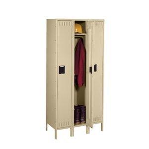 Knocked Down Locker, Single, 36 x12x66, Beige - Knocked Down Locker