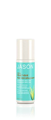 JASON Roll-On Aloe Vera Deodorant, 3 Ounce Tubes (Pack of 3) ()