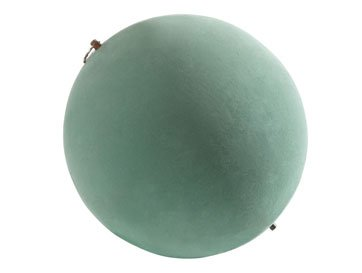 16'' Floral Foam Sphere for Fresh Flowers. Case of 2 Ball