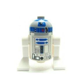 Lego star wars mini figure r2 d2 grey head astromech droid approximately 40mm - Lego starwars r2d2 ...