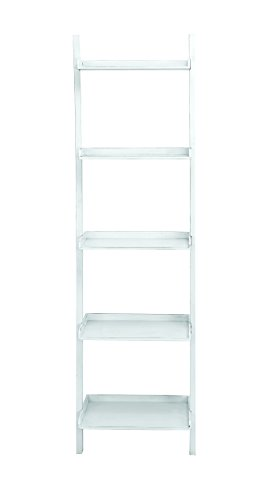 Benzara 96198 Leaning Shelf in Glossy Finish with Rich and Royal Looks