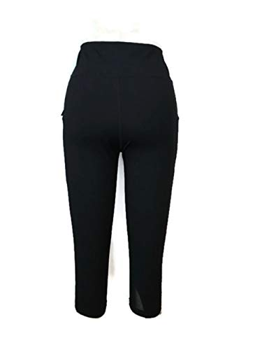 Athletic Works Womens Shorter Capri 17 Length (Medium 8/10, Black Soot)