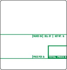 (CAS LST-8020 Printing Scale Label, Printed in USA, 58 x 60 mm, UPC 12 Rolls Green Color )