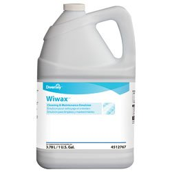 Diversey 4512767 WiWax Floor Cleaner, Commercial Strength Rubber Floor Cleaner, Case of 4 One Gallon Bottles ()