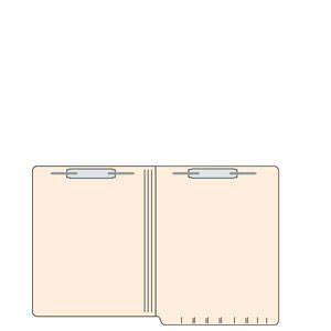 9-1/2''H x 12-1/4''W Manila 14PT 1-Ply Letter Size Folder (250/Case) - TBBS-5601913