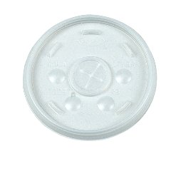 Dart 16SL Translucent Sorbet Lid for Hot And Cold Foam Cup 100-Pack (Case of 10)